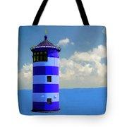 Lighthouse On The Sea Tote Bag