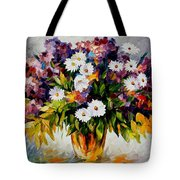 Lilac And Camomiles Tote Bag