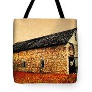 Lime Stone Barn Tote Bag by Julie Hamilton