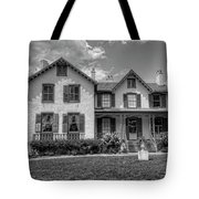 Lincoln Cottage In Black And White Tote Bag