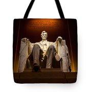 Lincoln Memorial At Night - Washington D.c. Tote Bag