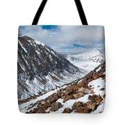 Lincoln Peak Winter Landscape Tote Bag