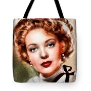 Linda Darnell, Vintage Hollywood Actress Tote Bag