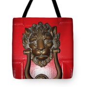 Lion Head Door Knocker Tote Bag