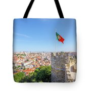 Lisbon Castle Flag Tote Bag