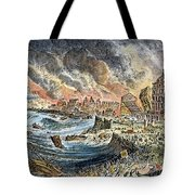 Lisbon Earthquake, 1755 Tote Bag