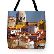 Lisbon View Tote Bag by Carlos Caetano