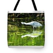 Little Blue Heron Fishing Tote Bag