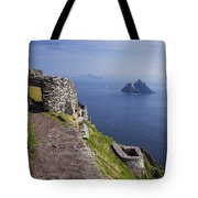 Little Skellig Island, From Skellig Michael, County Kerry Ireland Tote Bag