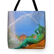 Logan Circle Fountain 1 Tote Bag by Bill Cannon