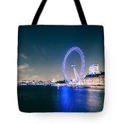 London Cityscape On River Thames Tote Bag