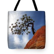 Lone Bonsai Tree In Zion Tote Bag