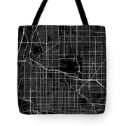 Long Beach California Usa Dark Map Tote Bag