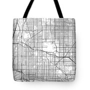 Long Beach California Usa Light Map Tote Bag
