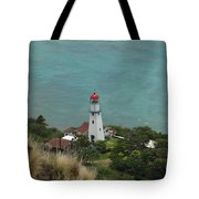 Looking Down At The Lighthouse Tote Bag