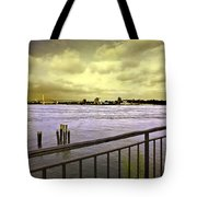 Looking West From The East River Tote Bag