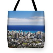 Lookout View Of Honolulu Tote Bag