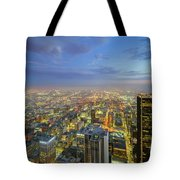 Los Angeles Downtown Nightscape Tote Bag