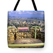 Los Angeles Skyline From Mulholland Tote Bag