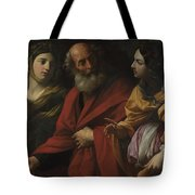 Lot And His Daughters Leaving Sodom Tote Bag