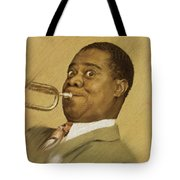 Louis Armstrong, Music Legend Tote Bag