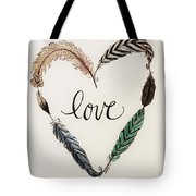 Feathers Of Love Tote Bag