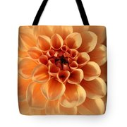 Lovely In Peaches And Cream - Dahlia Tote Bag