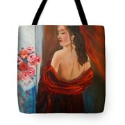 Lovely In Red Jenny Lee Discount Tote Bag