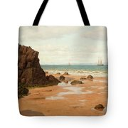 Low Tide At The Ris Beach Tote Bag