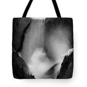 Lower Yellowstone Waterfall Falls In Canyon National Park Tote Bag