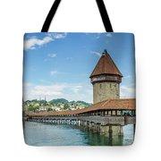 Lucerne Chapel Bridge And Water Tower - Panoramic Tote Bag