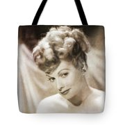 Lucille Ball By Mary Bassett Tote Bag
