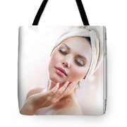 Lutrevia Cream Tote Bag