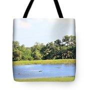 M R Ducks Tote Bag
