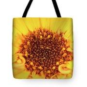 Macro Shot Of A Yellow Flower. Tote Bag