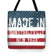 Made In Constableville, New York Tote Bag
