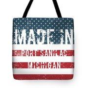 Made In Port Sanilac, Michigan Tote Bag