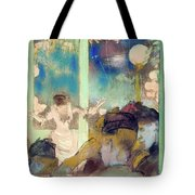 Mademoiselle Becat At The Cafe Des Ambassadeurs  Tote Bag