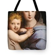 Madonna Of The Candelabra Tote Bag