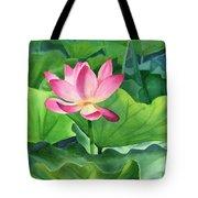 Magenta Lotus Blossom Tote Bag
