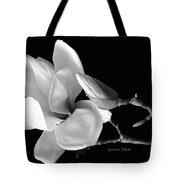 Magnolia In Monochrome Tote Bag
