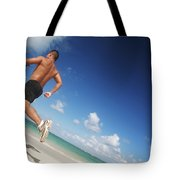 Male Beach Runner Tote Bag by Brandon Tabiolo - Printscapes