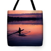Man Rowing On Montlake Cut Tote Bag