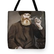 Man Smoking A Pipe Tote Bag