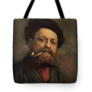 Man With A Pipe Tote Bag