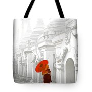 Mandalay Monk Tote Bag