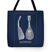 Mandolin Blue Musical Instrument Tote Bag