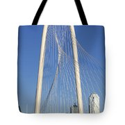 Margaret Hunt Hill Bridge In Dallas - Texas Tote Bag