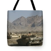 Marines Conduct Combat Operations Tote Bag