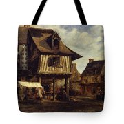 Market-place In Normandy Tote Bag